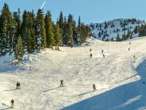 Narciarstwo teren w Alps obrazy stock