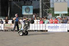Narcis Roca mit dem Viererkabel auf zwei Rädern Stockfotos