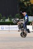 Narcis Roca wheelie Stock Afbeeldingen
