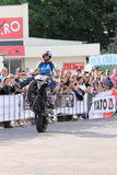 Narcis Roca wheelie Zdjęcia Royalty Free