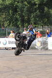 Narcis Roca wheelie. With the motorcycle at the Iubim 2 roti (We love two wheels) event in Romania, at Romexpo. At this event it was seen a show made of Free Stock Photos