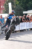 Narcis Roca wheelie. With the motorcycle at the Iubim 2 roti (We love two wheels) event in Romania, at Romexpo. At this event it was seen a show made of Free Stock Photo