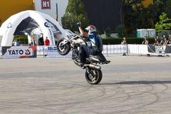 Narcis Roca wheelie Royalty Free Stock Image