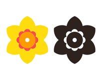 Narcissen - de reeks van het bloempictogram royalty-vrije illustratie