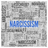 NARCISSISM Concept Word Tag Cloud Design Royalty Free Stock Photos
