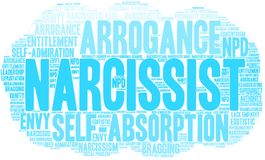 Narcissist Word Cloud. On a white background Stock Image