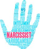 Narcissist Word Cloud. On a white background Stock Images