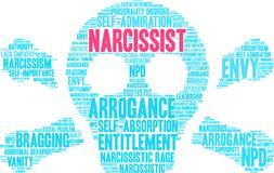 Narcissist word cloud. On a white background Royalty Free Stock Photography