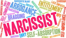 Narcissist Word Cloud. On a white background Stock Photos