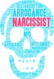 Narcissist Word Cloud. On a white background Royalty Free Stock Image