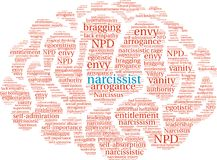 Narcissist Word Cloud. On a white background Stock Photo