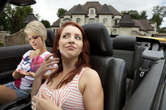 Narcissistic divas going for a drive Royalty Free Stock Photography