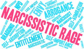 Narcissistic Rage Word Cloud. On a white background Royalty Free Stock Photos