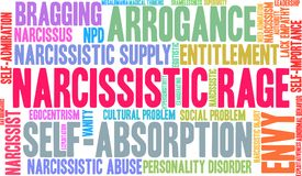 Narcissistic Rage Word Cloud. On a white background Stock Image