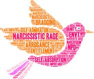 Narcissistic Rage Word Cloud. On a white background Stock Images