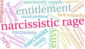 Narcissistic Rage Word Cloud. On a white background Stock Photo