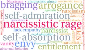 Narcissistic Rage Word Cloud. On a white background Royalty Free Stock Photo