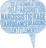 Narcissistic Rage Word Cloud. On a white background Stock Photos