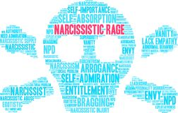 Narcissistic Rage Word Cloud. On a white background Royalty Free Stock Image