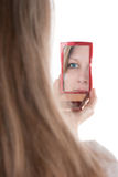 Narcissistic woman Royalty Free Stock Photo