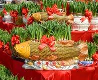 Narcissus зацветая в форме золотых рыб Стоковое Изображение