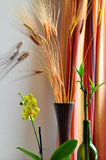 Narcissus, bamboo & cereal. Indoor shot of narcissus, bamboo & cereal Royalty Free Stock Photo