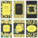 Narcissus flower cards set Royalty Free Stock Image