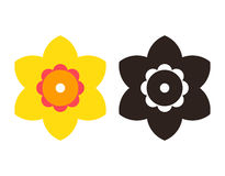 Narcissus - flower icon set Stock Photography