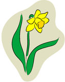 Narcissus logo Royalty Free Stock Photography