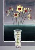 Narcissuses in een vaas Royalty-vrije Stock Foto