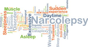 Narcolepsy background concept Stock Photos