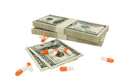 Narcotic. For the large money Stock Images