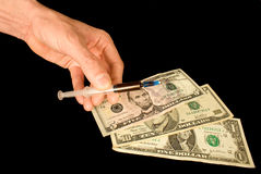 Narcotic dependence. Keep to itself a life having refused from narcotic dependence Stock Photo