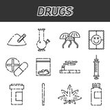 Narcotic drugs icon Stock Images