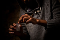 Narcotics and drugs concept Royalty Free Stock Photos