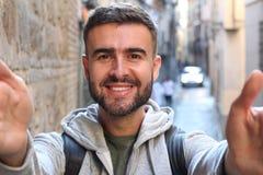 Narcyzowata samiec bierze selfie obraz royalty free