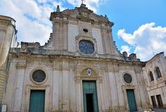 Nardò Salento Italy. Cathedral of Santa Maria assumed Romanesque Baroque style nardò italy stock photography