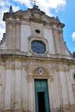 Nardò Salento Italy. Cathedral of Santa Maria assumed Romanesque Baroque style nardò italy royalty free stock images