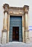 Nardò Salento Italy. Cathedral of Santa Maria assumed Romanesque Baroque style nardò italy royalty free stock image