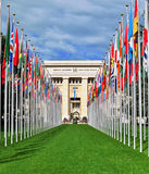 Naród Zjednoczony budynek, Genewa Obrazy Royalty Free