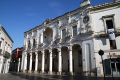 Nardo architecture. The city hall in baroque style at nardo in italy royalty free stock image