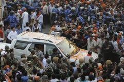 Narendra Μόδι στο Varanasi Στοκ Εικόνες