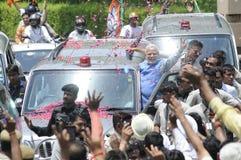 Narendra Modi en Delhi Imágenes de archivo libres de regalías