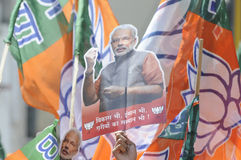 Narendra Modi Files sa nomination Image stock