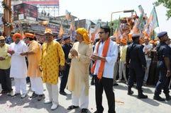 Narendra Modi Files sa nomination Photos libres de droits