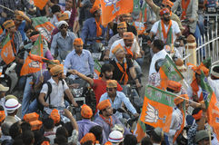 Narendra Modi rally at BHU. Stock Images