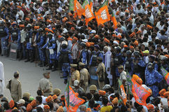 Narendra Modi rally at BHU. Stock Image