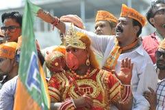 Narendra Modi Segreguje jego nominację Obraz Royalty Free