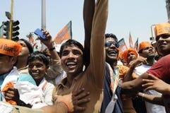 Narendra Modi in Varanasi Stockfotografie