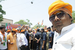 Narendra Modi in Varanasi. Stock Photos